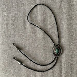 Vintage Accessories - Vintage Bolo Tie with Stone Inlay